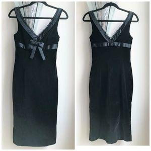 RED Valentino Black Velvet Fitted Dress
